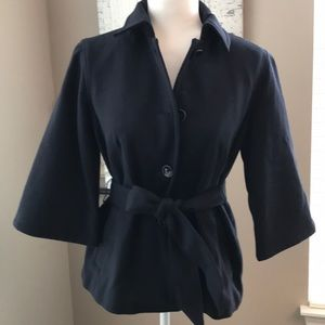 Gap NWT Lined Navy Belted Coat, size S😊!
